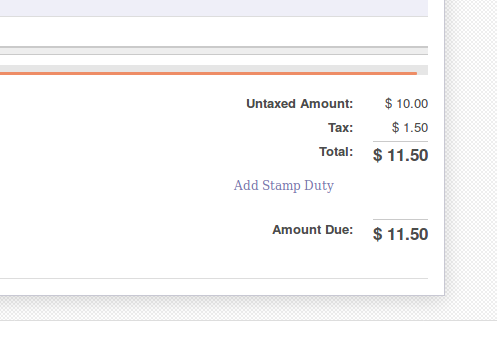 Odoo Application Stamp Duty On Invoices ERP Tutorials - Invoice stamp